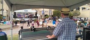 Mixing Steven Ybarra band at San Diego Fair 2013.